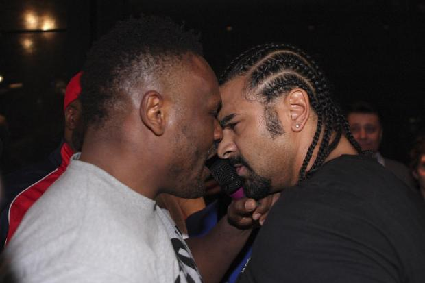 Chisora and Haye square up