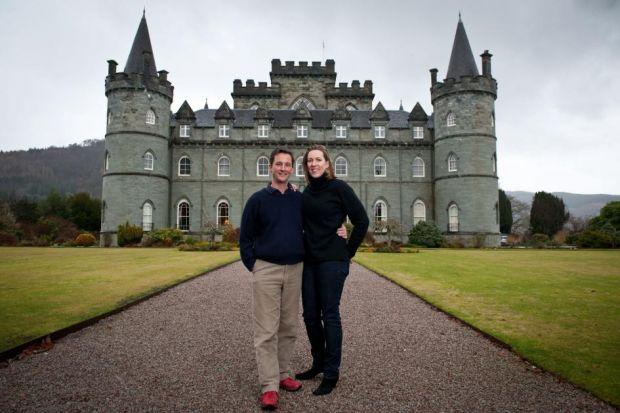 The Duke and Dutchess of Argyll at home at Inveraray Castle