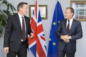 "Britain's EU negotiations remain ""fragile,"" Donald Tusk says"